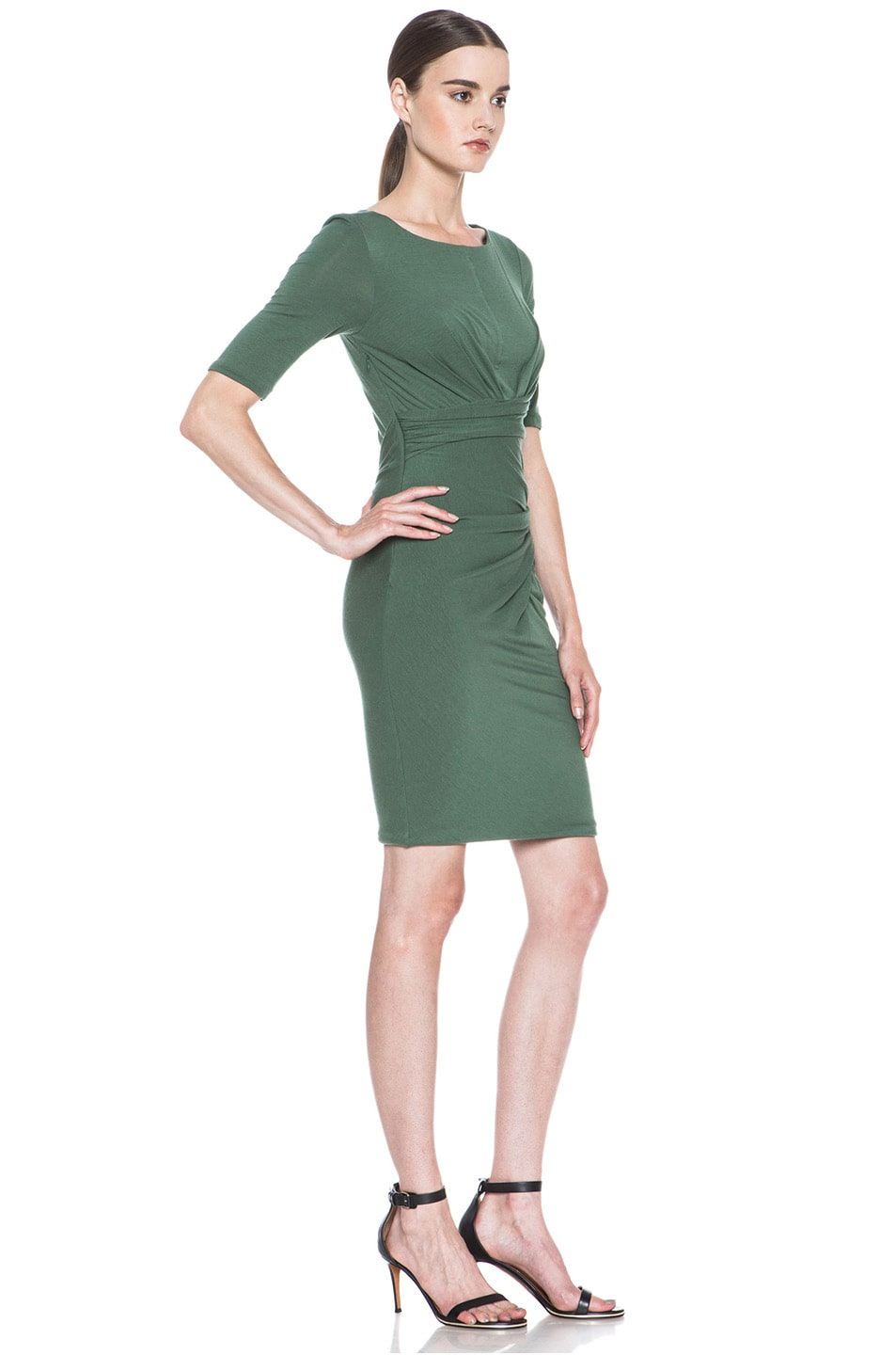 Image 3 of Carven Wool Jersey Dress in Green