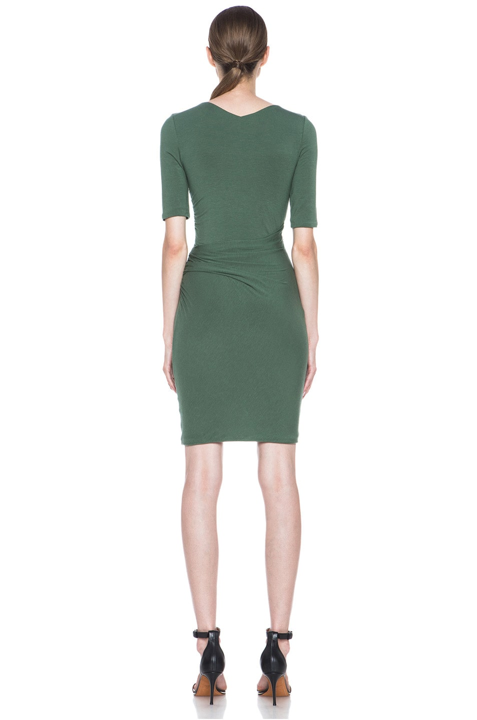 Image 4 of Carven Wool Jersey Dress in Green