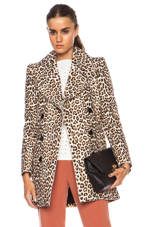 2314e69b600 Image 1 of Carven Woollen Wool-Blend Coat in Leopard