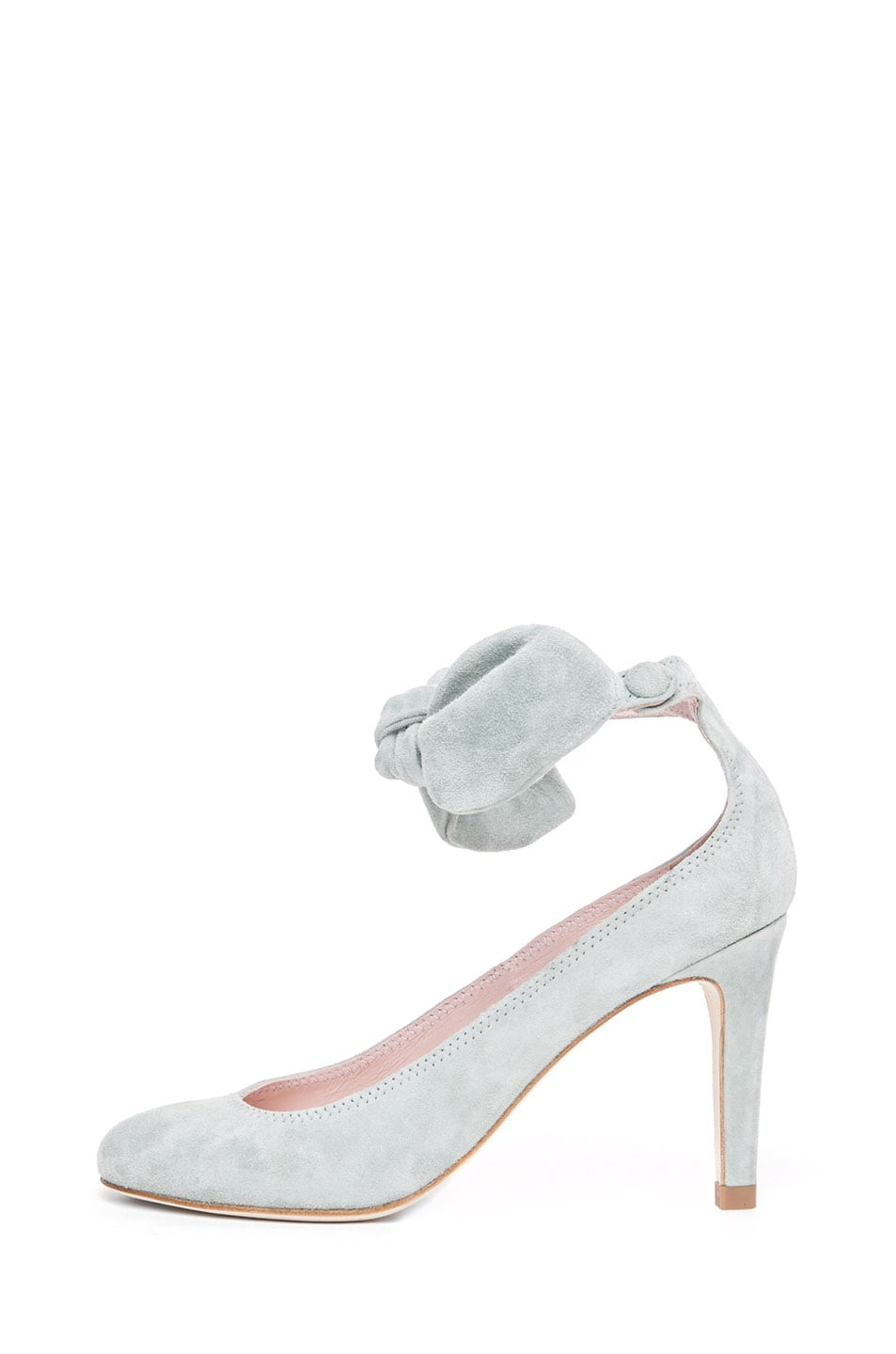 Image 1 of Carven Bow Heel in Grey