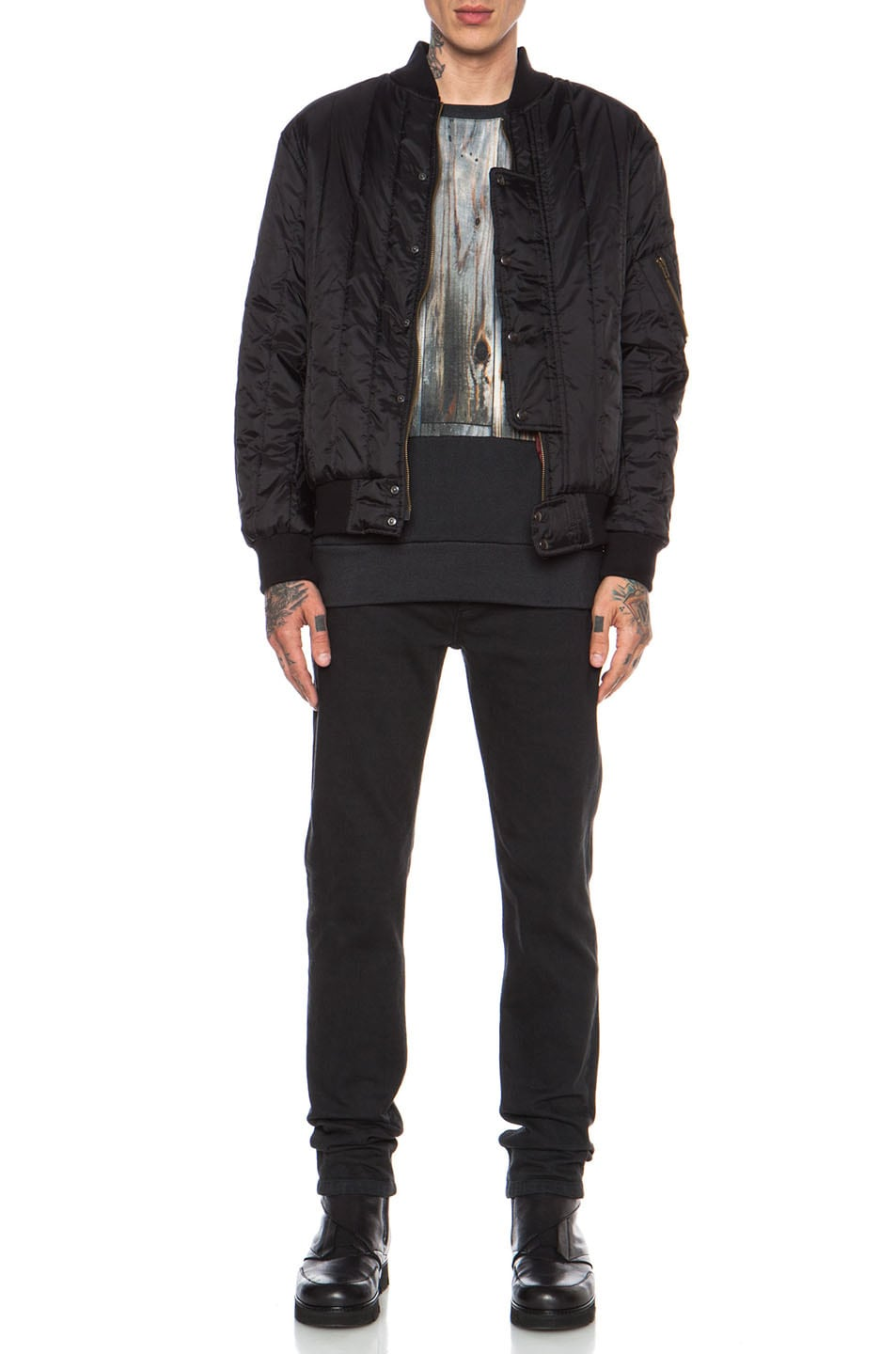 Casely Hayford Lambton Quilted Nylon Bomber Jacket In Black Fwrd