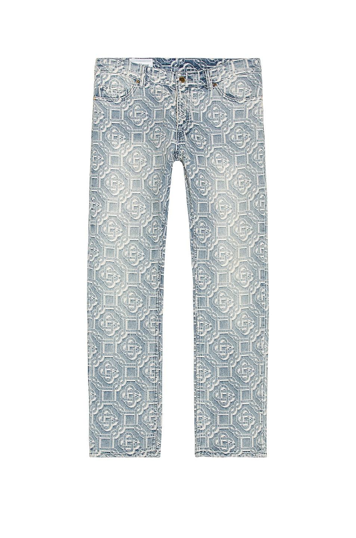 Image 1 of Casablanca Jacquard Logo Jeans in Sunbleach