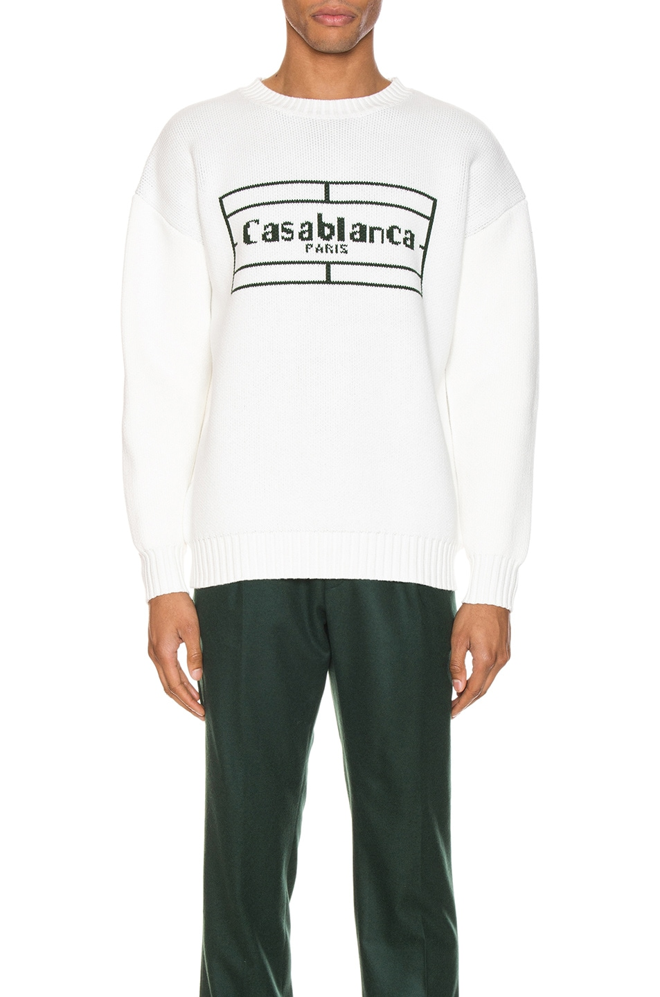 Image 1 of Casablanca Tennis Logo Pullover in White