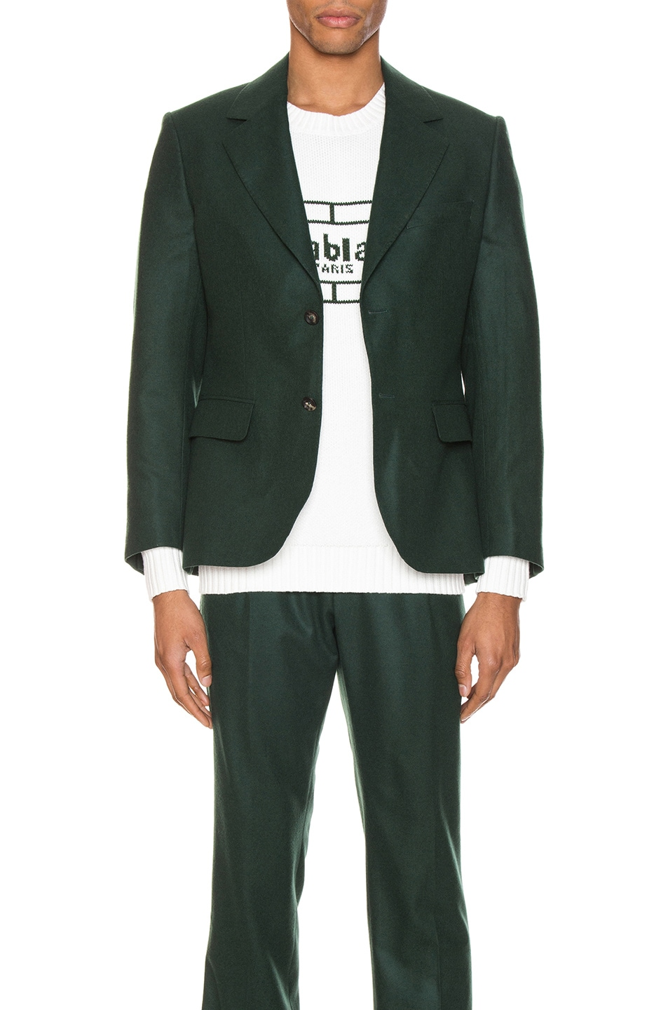 Image 1 of Casablanca Midnight Single Breasted Jacket in Green