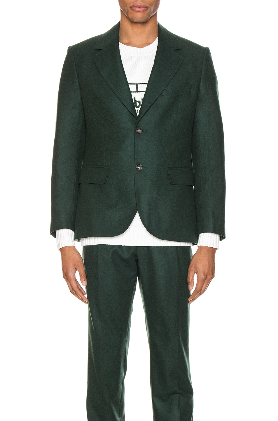 Image 2 of Casablanca Midnight Single Breasted Jacket in Green