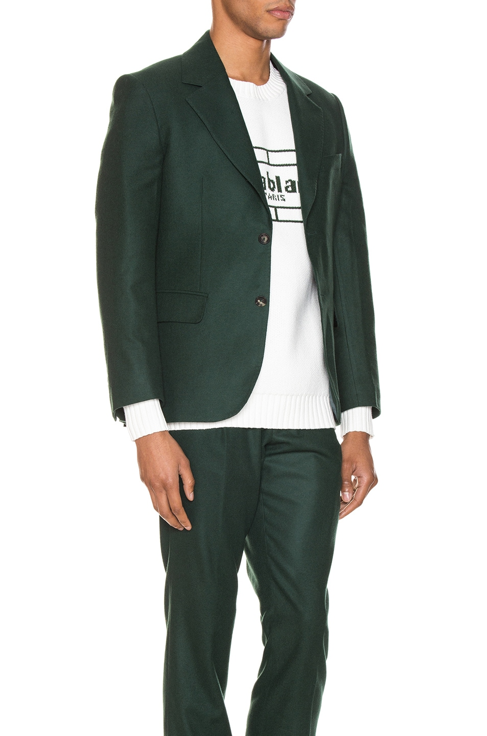 Image 3 of Casablanca Midnight Single Breasted Jacket in Green