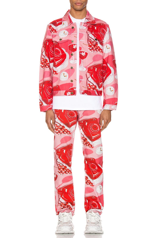Image 4 of Casablanca Le Protocole Jacket in Pink