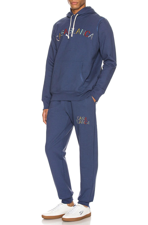 Image 5 of Casablanca Casa Arch Logo Sweatpants in Navy