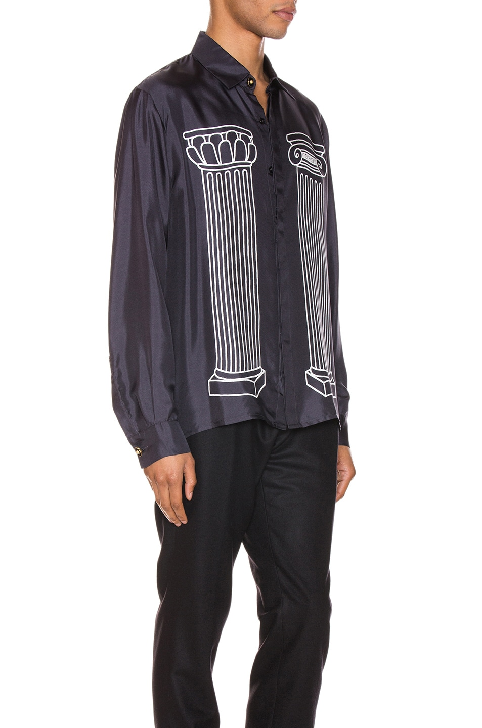 Image 3 of Casablanca Sid Button Up Shirt in Black