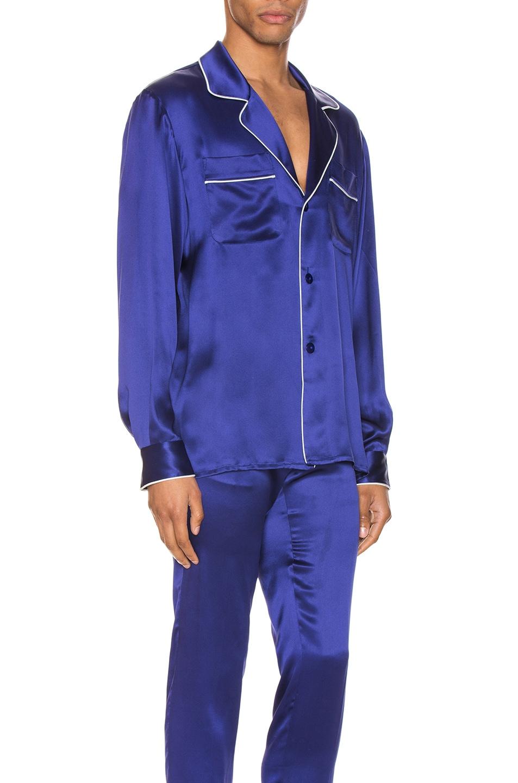 Image 2 of Casablanca De Soiree Pajama Shirt in Navy