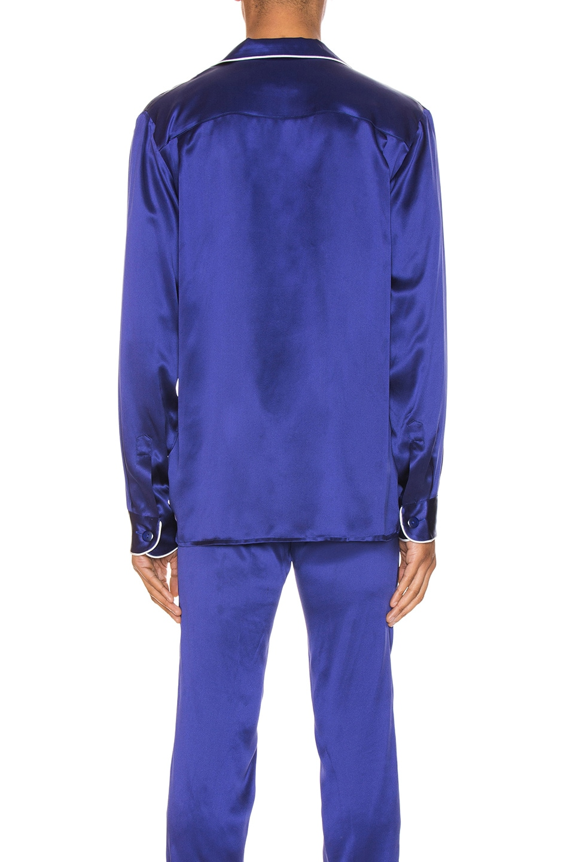 Image 3 of Casablanca De Soiree Pajama Shirt in Navy