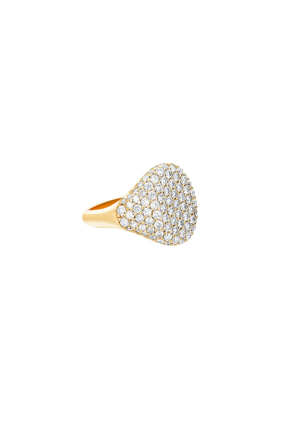 Image 2 of Carbon & Hyde Bling Pinky Ring in Gold