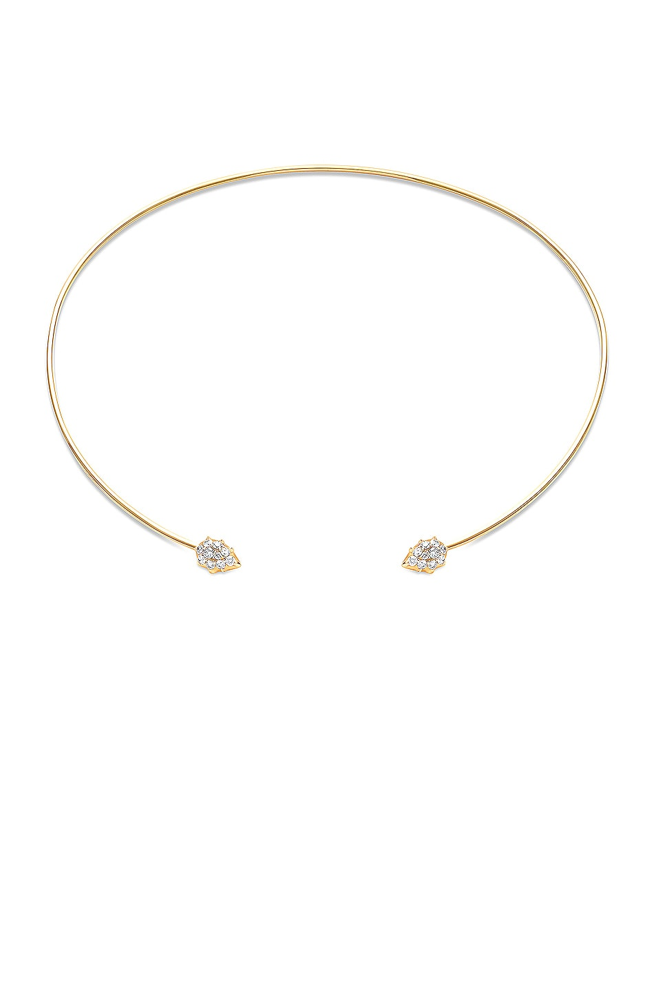 Image 1 of Carbon & Hyde Rosette Choker in Gold