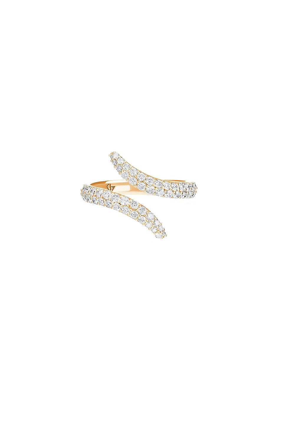 Image 1 of Carbon & Hyde Viper Ring in 14K Yellow Gold