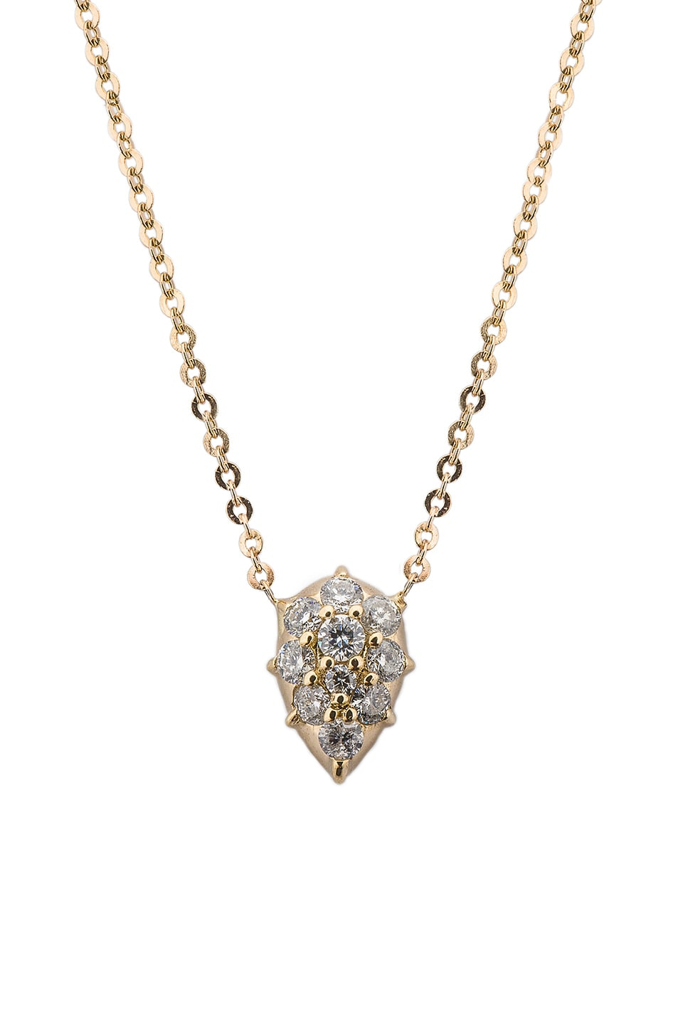 Image 1 of Carbon & Hyde Diamond Drop Chain Choker in Gold