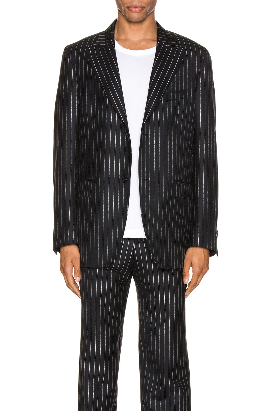 Image 1 of Cobra SC Peak Lapel Jacket in Metallic Pinstripe