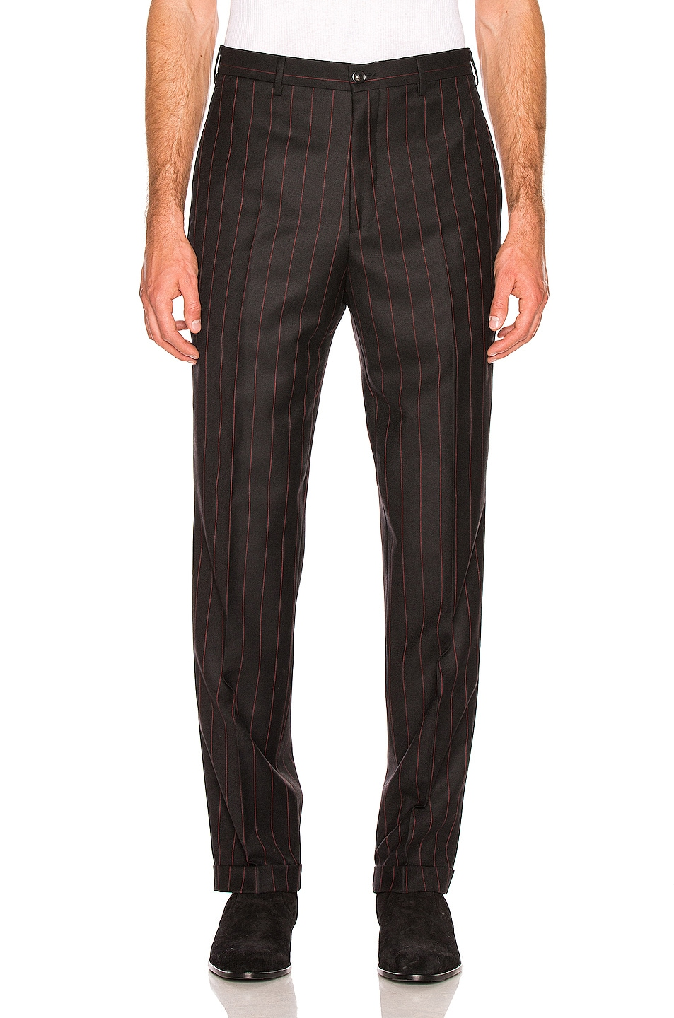 Image 1 of Cobra SC Classic Trousers in Black & Red Pinstripe