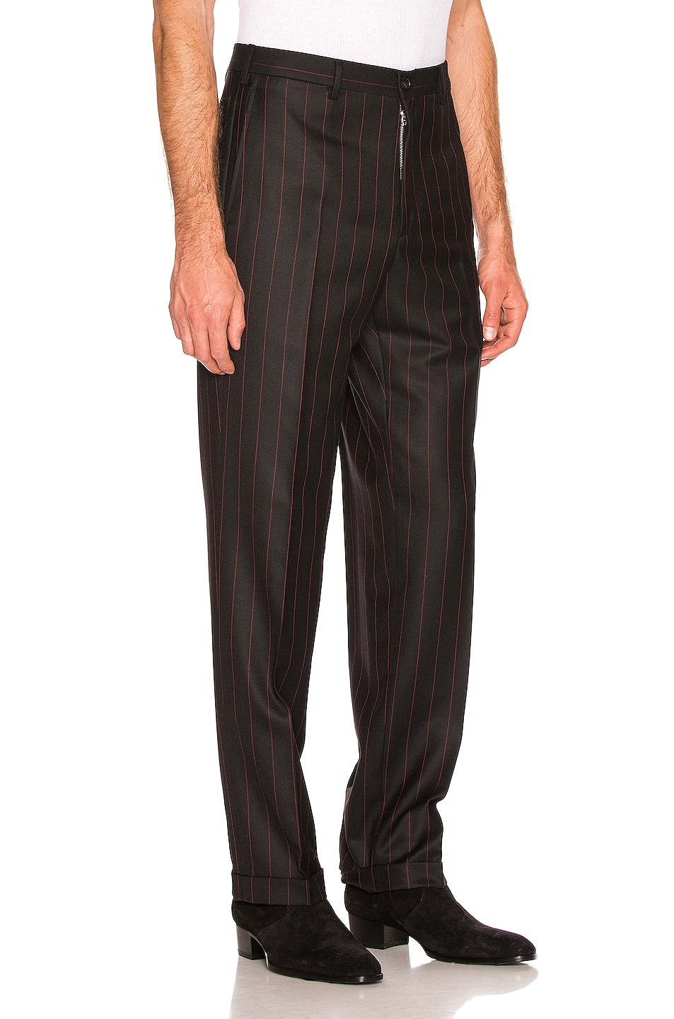 Image 2 of Cobra SC Classic Trousers in Black & Red Pinstripe