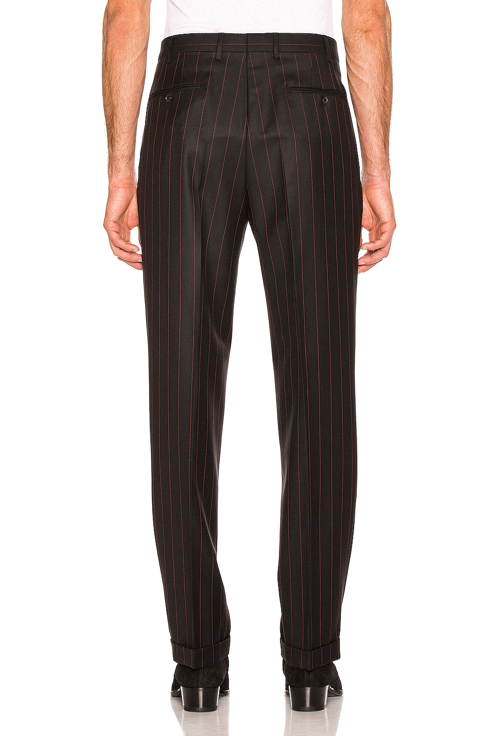 Image 3 of Cobra SC Classic Trousers in Black & Red Pinstripe