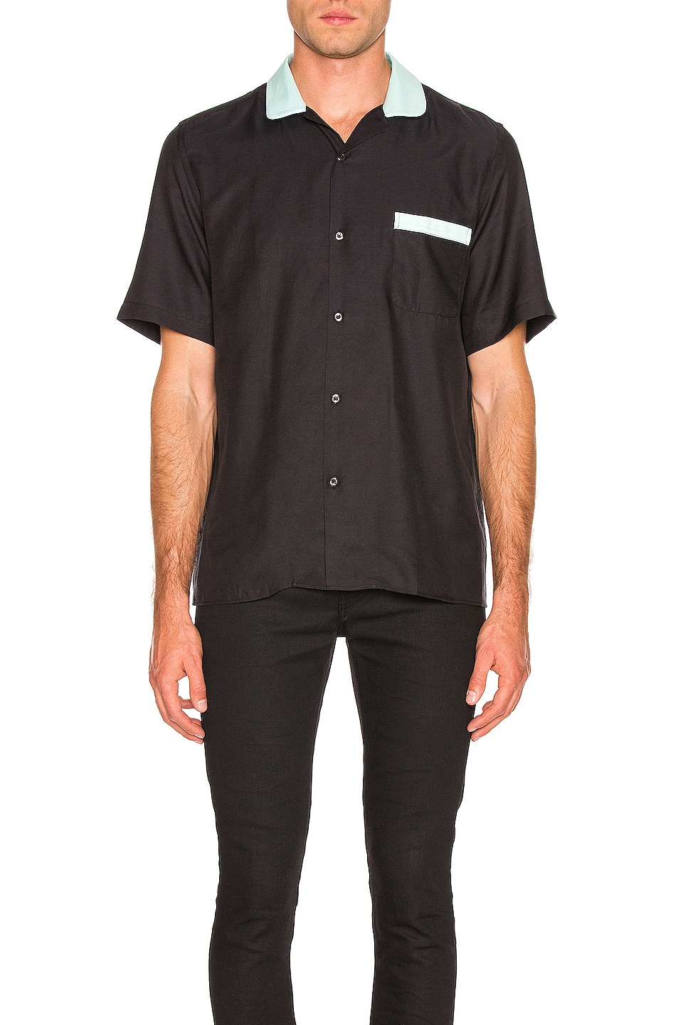 Image 1 of Cobra SC Cabrio Shirt in Black & Sea Foam