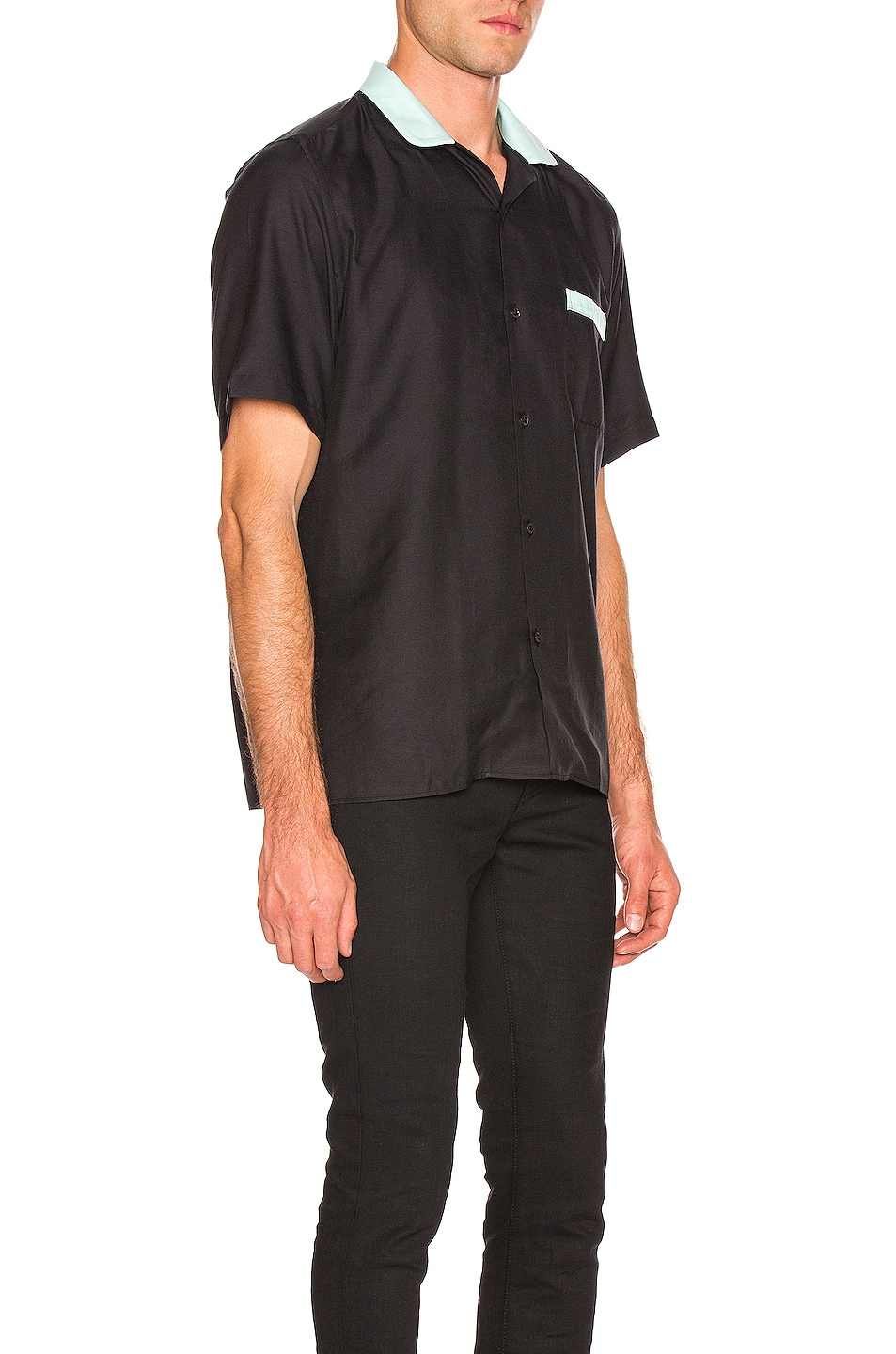 Image 2 of Cobra SC Cabrio Shirt in Black & Sea Foam