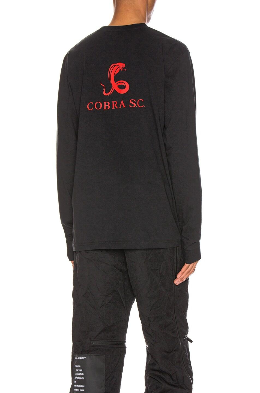 Image 1 of Cobra SC Long Sleeve Logo Tee in Black