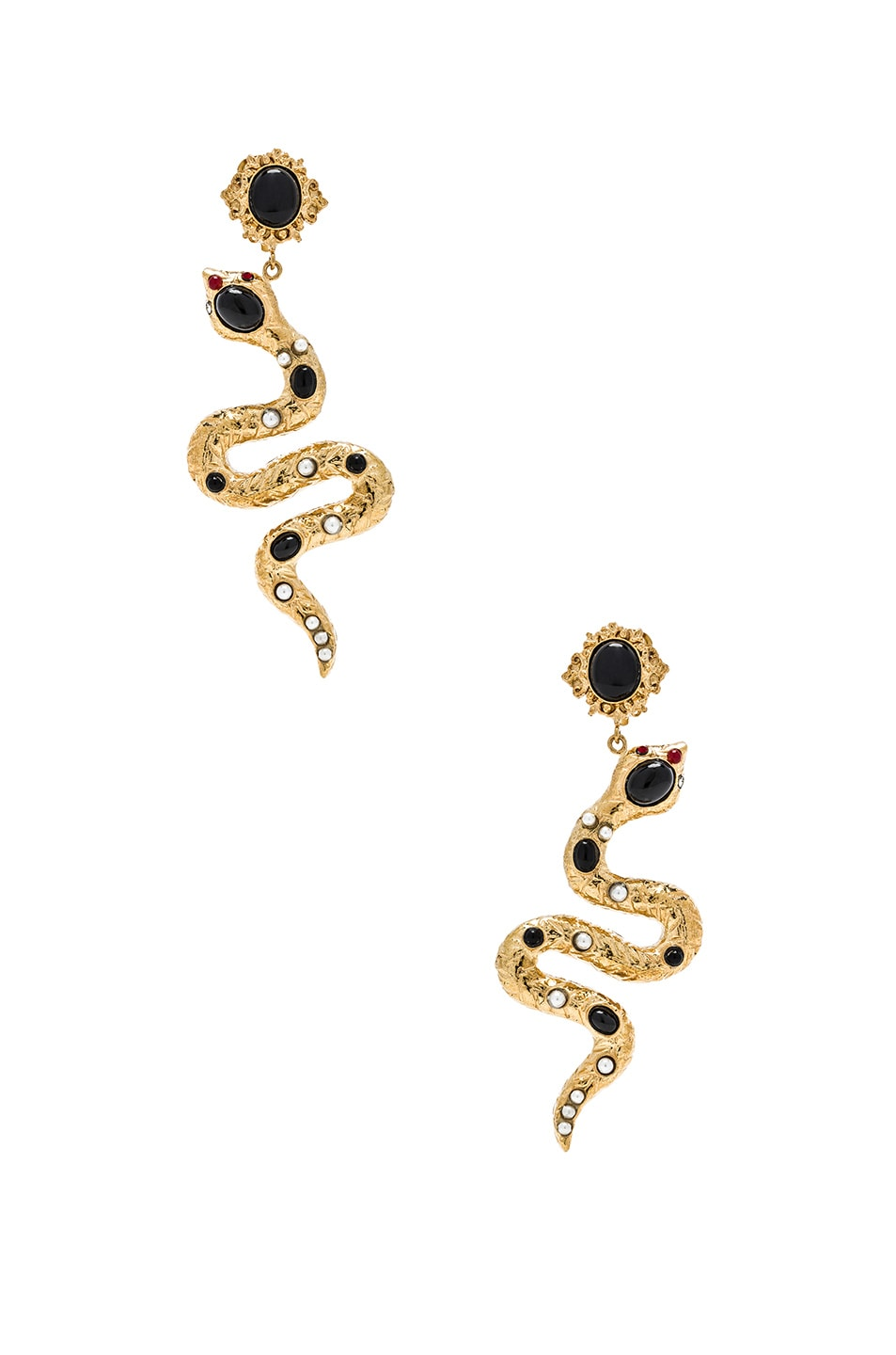 Image 1 of Christie Nicolaides Serpente Earrings in Gold