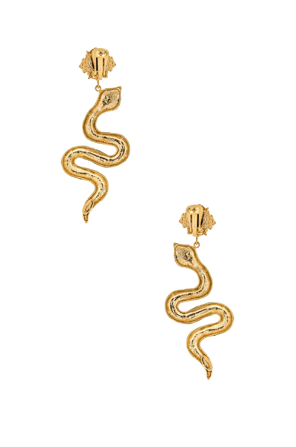 Image 3 of Christie Nicolaides Serpente Earrings in Gold