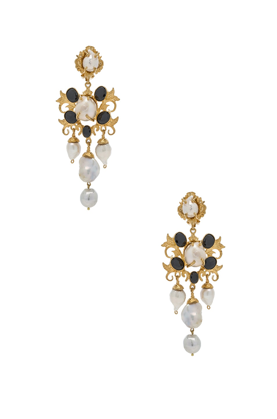 Image 1 of Christie Nicolaides Ariadne Earrings in Gold & Black