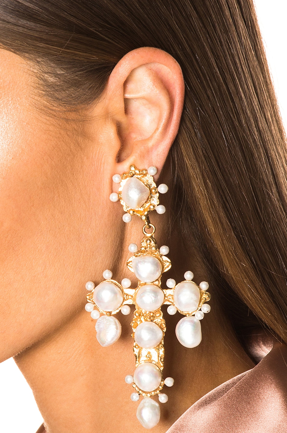 Image 2 of Christie Nicolaides Celestina Earrings in Gold