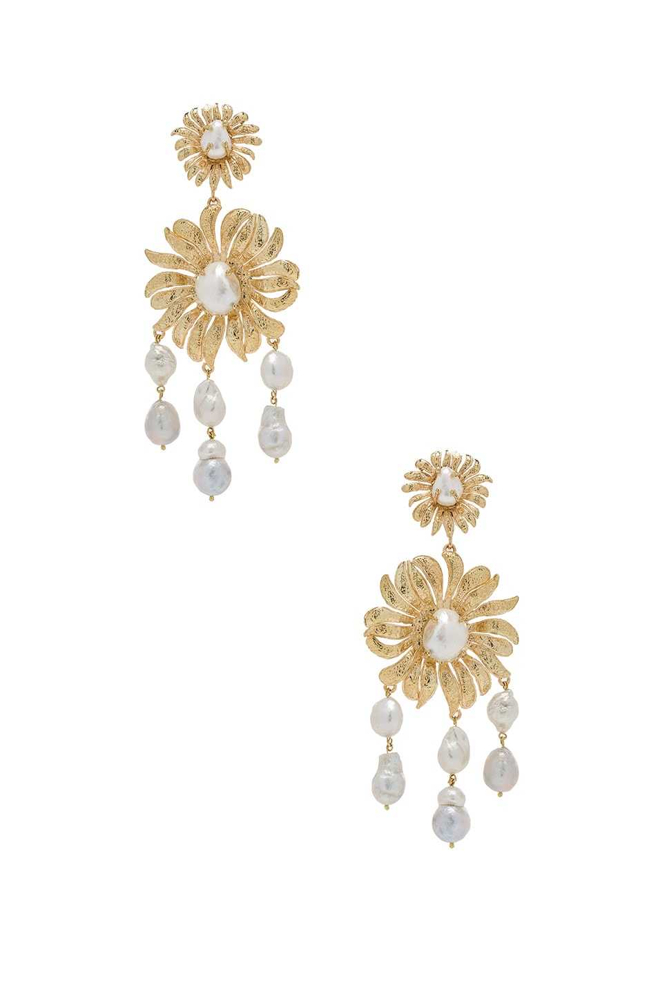 Image 1 of Christie Nicolaides Chloe Earrings in Gold