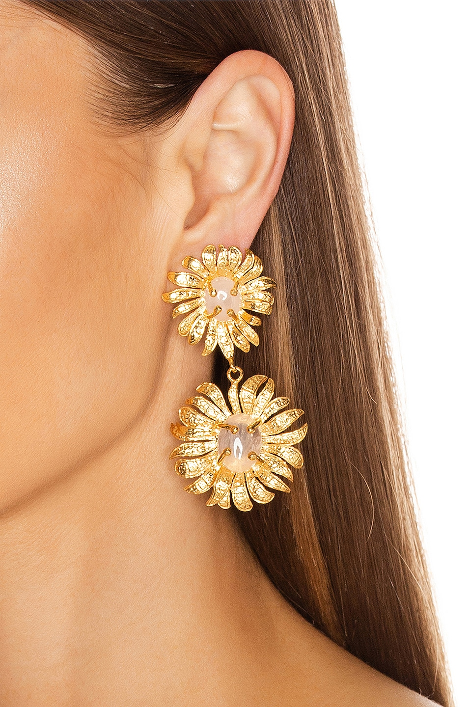 Image 2 of Christie Nicolaides Evelynne Earrings in Gold & Pink