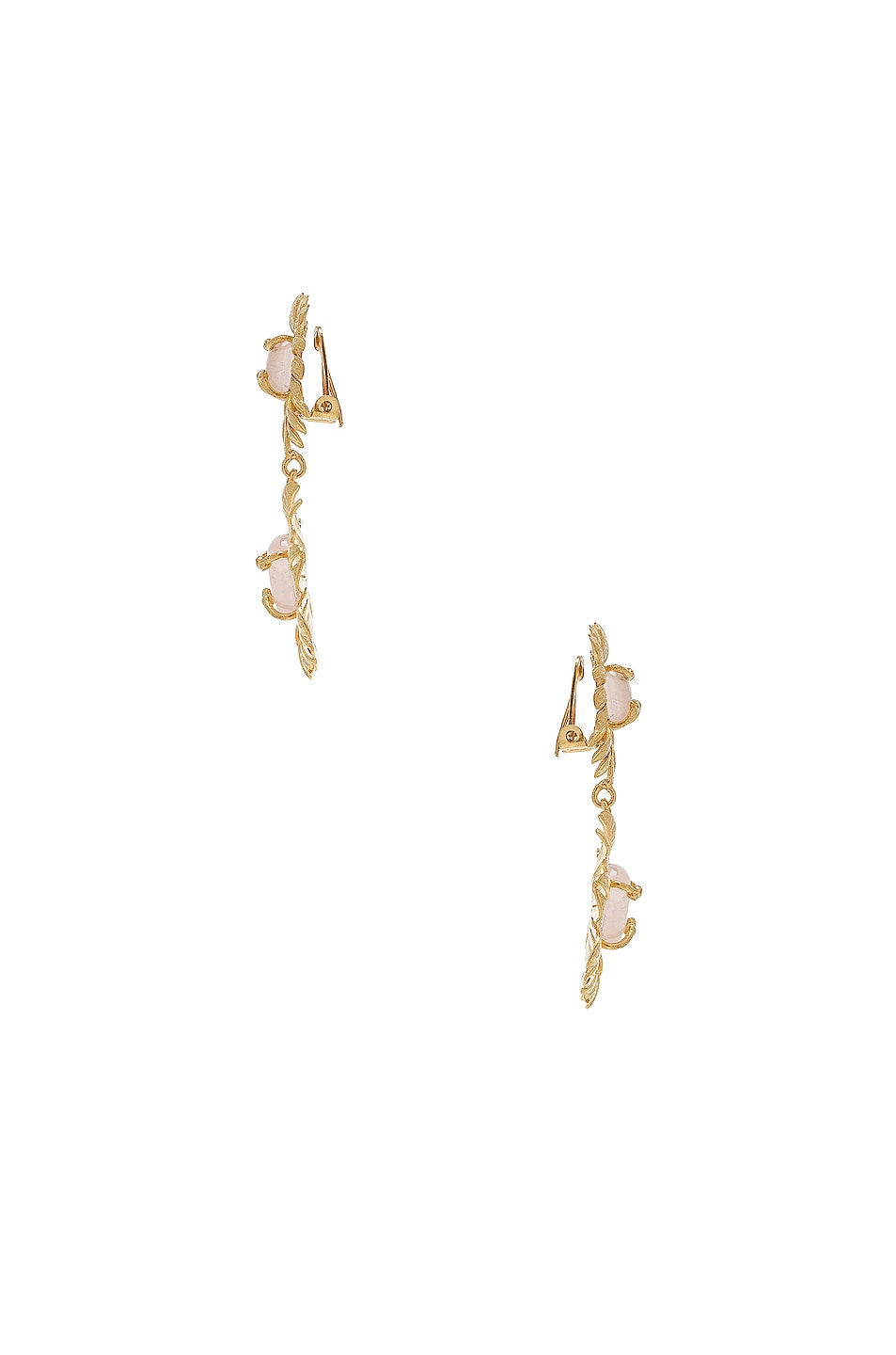 Image 3 of Christie Nicolaides Evelynne Earrings in Gold & Pink