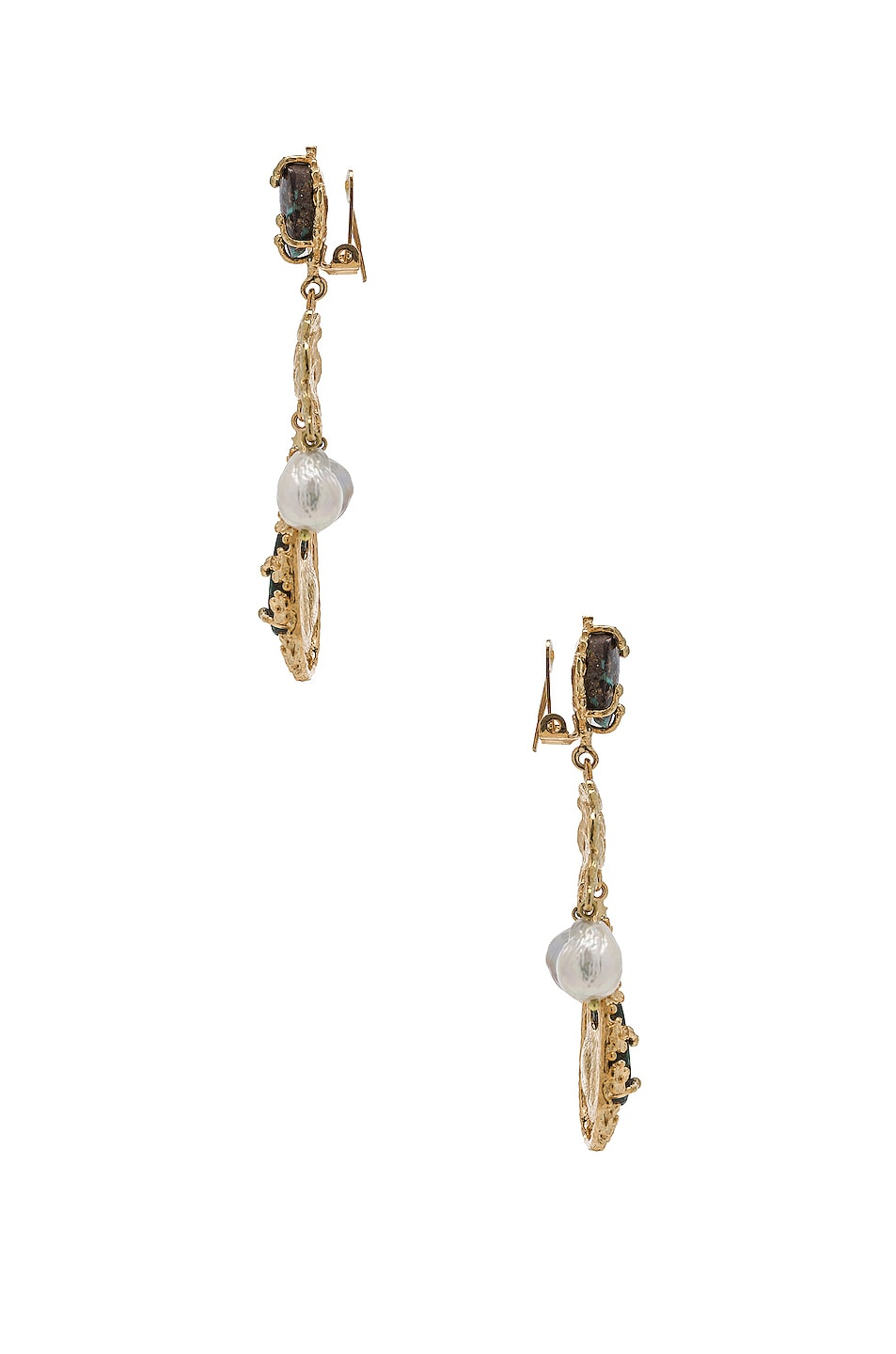 Image 3 of Christie Nicolaides Liliana Earrings in Gold & Turquoise