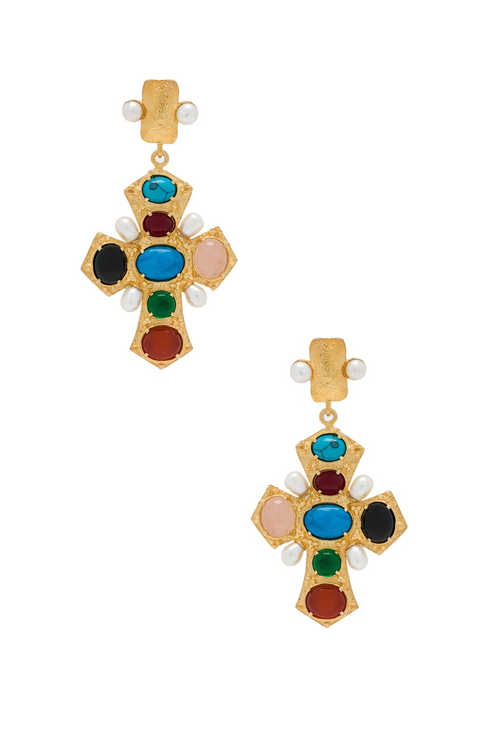 Image 1 of Christie Nicolaides Agnes Earrings in Gold & Multi