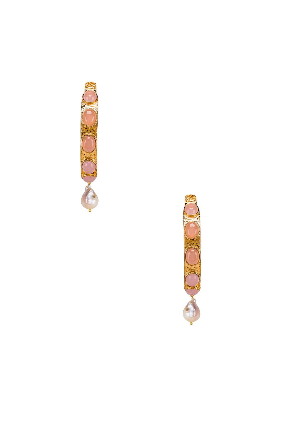 Image 1 of Christie Nicolaides Carmen Hoops in Pink