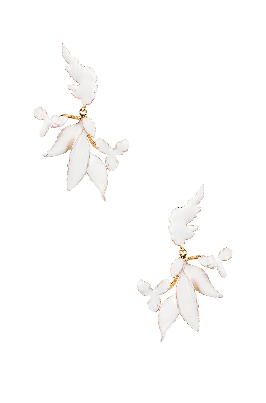 Image 1 of Christie Nicolaides Flor Enamel Earrings in White