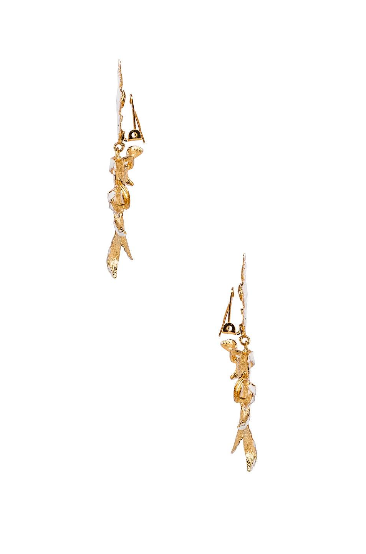 Image 3 of Christie Nicolaides Flor Enamel Earrings in White
