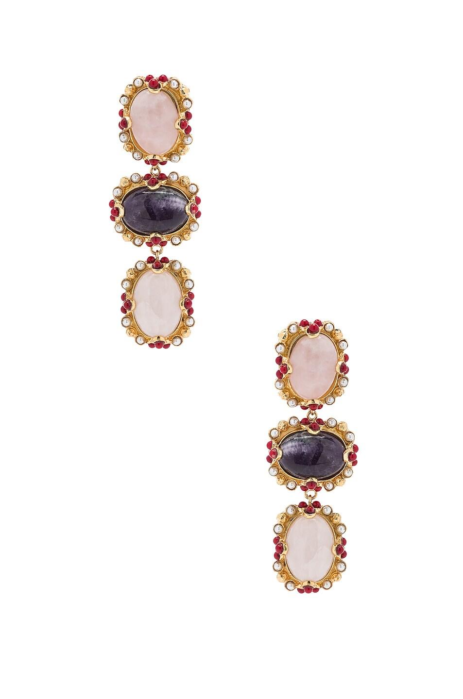 Image 1 of Christie Nicolaides Allegra Earrings in Rose Quartz