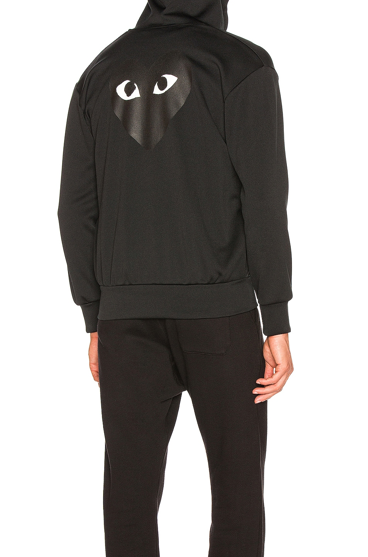 Image 1 of Comme Des Garcons PLAY Big Heart Sweatshirt in Black