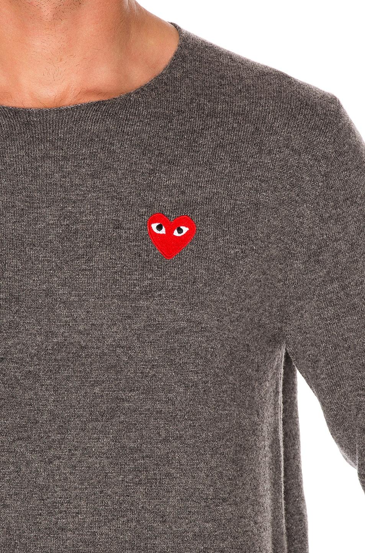 Image 5 of Comme Des Garcons PLAY Logo Emblem Sweatshirt in Grey