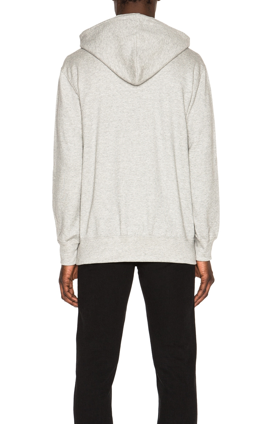 Image 4 of Comme Des Garcons PLAY Red Emblem Cotton Hoodie in Grey
