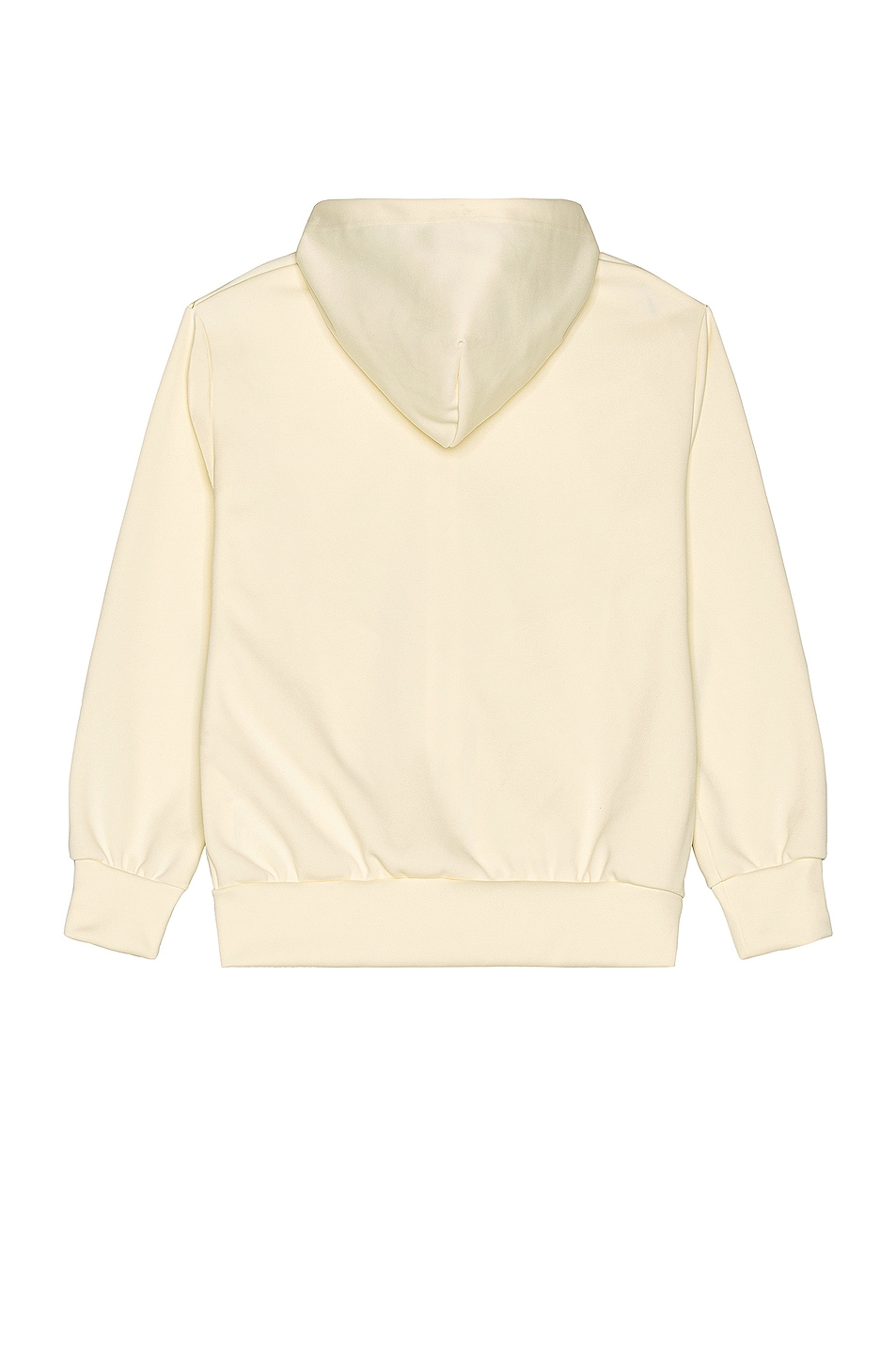 Image 2 of Comme Des Garcons PLAY Pullover Hoodie with Red Emblem in Ivory