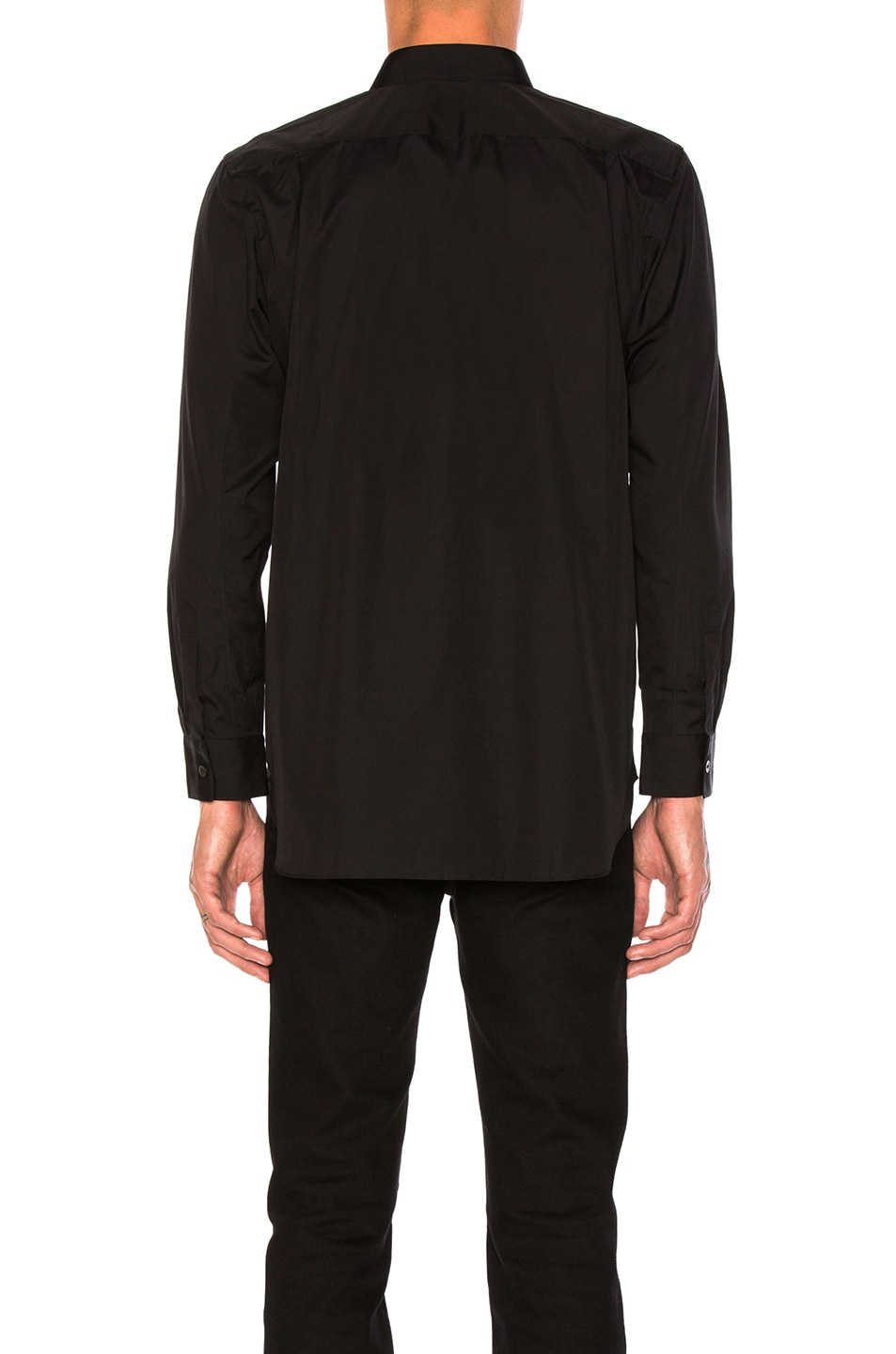 Image 3 of Comme Des Garcons PLAY Small Red Emblem Cotton Button Down in Black