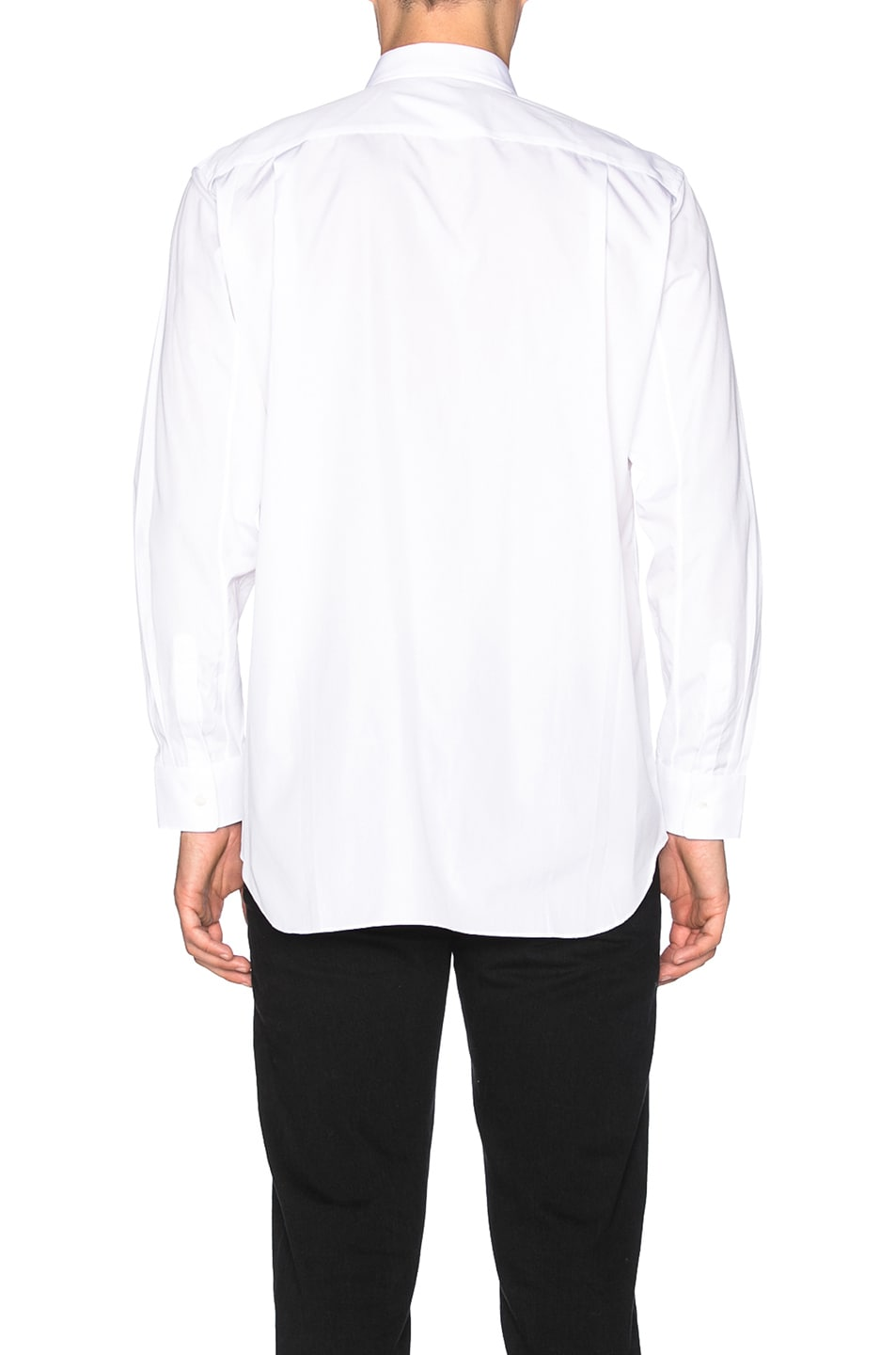 Image 4 of Comme Des Garcons PLAY Small Red Emblem Cotton Button Down in White