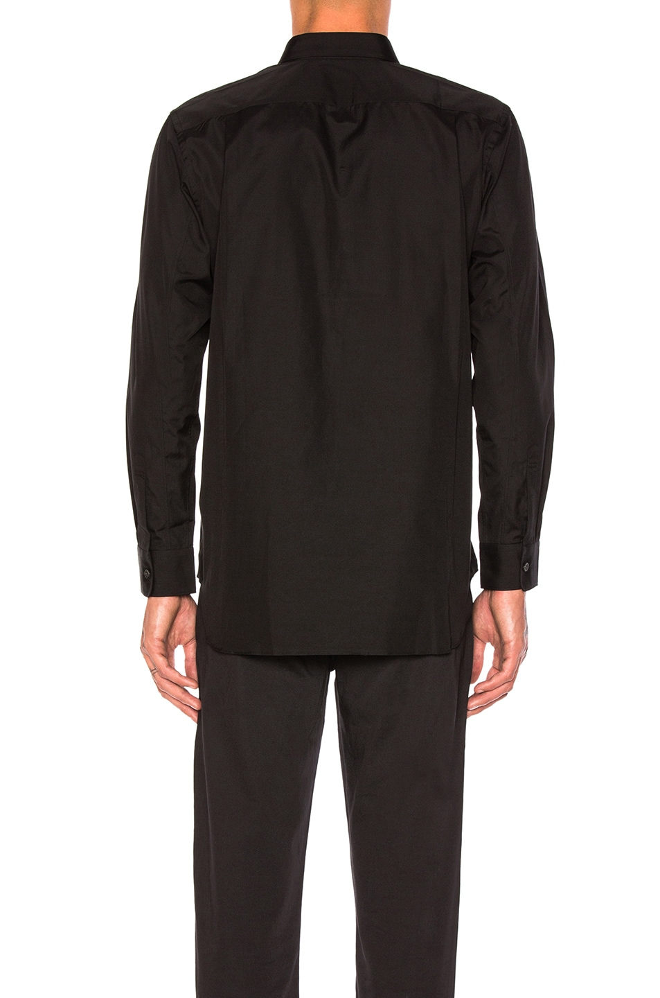Image 3 of Comme Des Garcons PLAY Small Black Emblem Cotton Button Down in Black