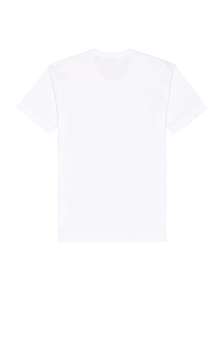 Image 2 of Comme Des Garcons PLAY Small Black Emblem Cotton Tee in White