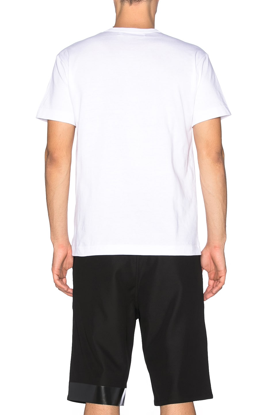 Image 4 of Comme Des Garcons PLAY Small Black Emblem Cotton Tee in White
