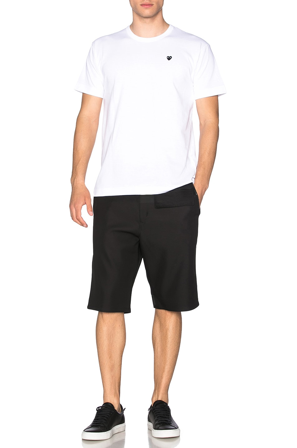 Image 5 of Comme Des Garcons PLAY Small Black Emblem Cotton Tee in White