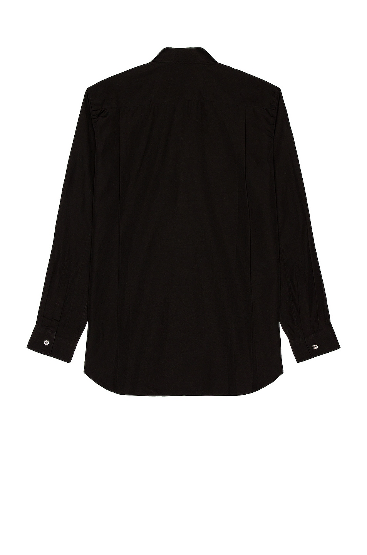 Image 2 of Comme Des Garcons PLAY Black Emblem Cotton Button Down in Black